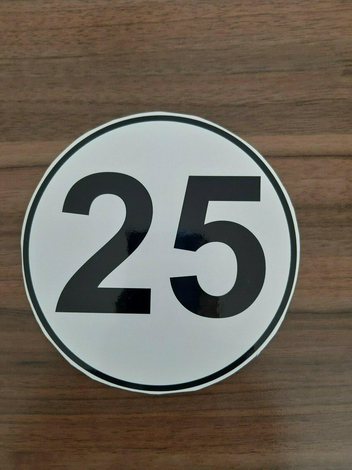 Aufkleber 25km/h