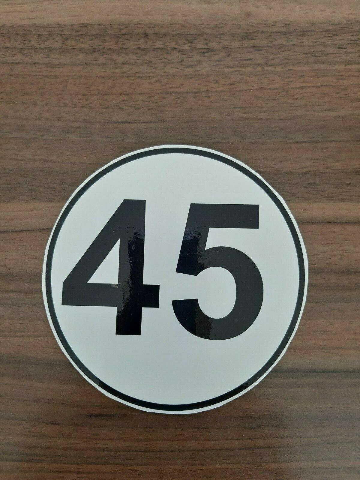 Aufkleber 45km/h
